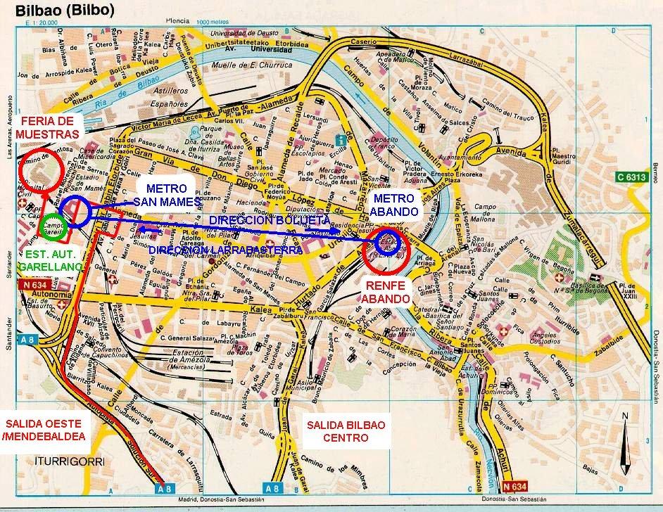 Bilbao Spain Map Map of Bilbao